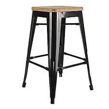 Tolix Armchair Replica Tolix Wooden Seat Bar Stool 66cm By Simpel Zanui