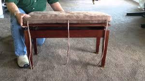bench piano bench cushion regarding glorious custom piano bench