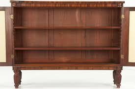 rare pair of english regency bookshelves cabinets c 1810 30