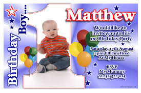 Baby First Birthday Invitation Card Free Printable 1st Birthday Party Invitations Boy Template