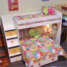Inexpensive Bunk Beds With Stairs Cheap Bunk Beds For Minimalist Blanket Orange Pouf Floral