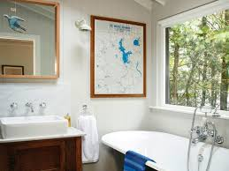 Relaxing Bathroom Ideas Bathroom Wall Sconces White Area Rug Bathtub Concrete Gray