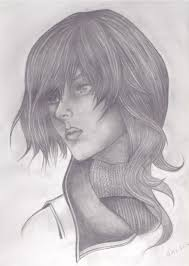 pencil drawing face in half profile u2022 young writers society