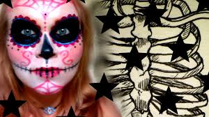 Halloween Eye Makeup Kits by Smiffys Fx Sugar Skull Makeup Kit Review Halloween 2015 Youtube