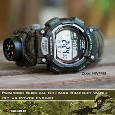 survival bracelet watches images Paracord survival compass bracelet watch solar power engine 7788 jpg