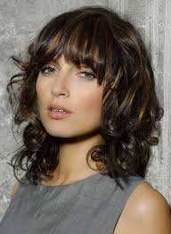 medium length fringe hairstyles curly med length hair with bangs hairstyle picture magz