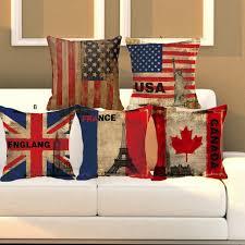 sofa franzã sisch kissenbezug usa großbritannien französisch kanada flag kissenbezug