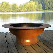 Allen Roth Fire Pit by Shop Fire Pit Art 40 In W Iron Oxide Patina Steel Wood Burning