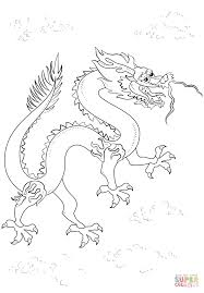 chinese black dragon coloring page free printable coloring pages