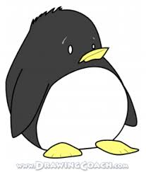 how to draw a cartoon penguin drawing lesson