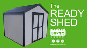 Shed Backyard Building The Ready Shed By Backyard Discovery Sponsored Youtube