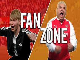 the sports fan zone hilarious sky sports fanzone during man united 3 arsenal 2 video