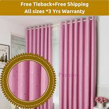 Standard Curtain Length South Africa by Blackout Pink Stars Kids Bedroom Curtains Fabric Sheer Drapes