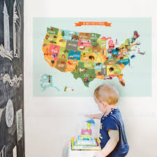 United States Wall Map Laminated by Large Print Usa Wall Maps The Map Center Large Extreme Raised