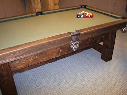 hand crafted barn board pool table by baron u0027s billiards