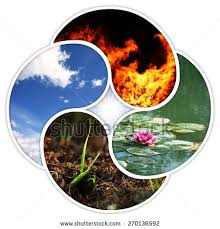 yin yang symbol four elements stock photo 270136592