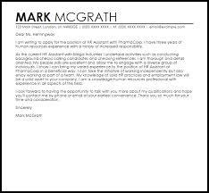 hr assistant cover letter sample livecareer