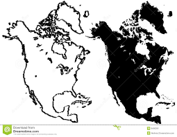Outline Map Of North America by Map Of South America Illustration Royalty Free Stock Images