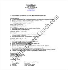 resume format pdf download data entry resume template 9 free word excel pdf format