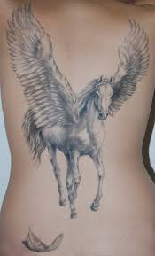 fantastic pegasus tattoo design for on back golfian com