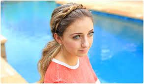 create a twist headband cute girls hairstyles youtube