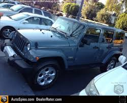 Jeep Spy Shots First Real Life Shots Of The 2014 Jeep Wrangler Sahara In Anvil