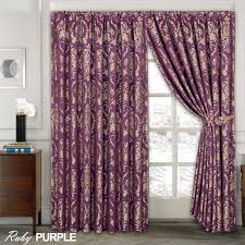 Mauve Curtains Next Luxury Jacquard Curtains Fully Lined Ready Made Tape Top Pencil