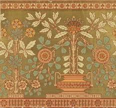 thankfully someone is preserving a history of wallpaper huffpost potted plants with geometric design and a planter have long branches with plentiful flowers and leaves palmettes band of encircled rosettes and clover