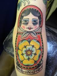 matryoshka doll tattoo design for sleeve