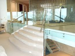 Glass Banisters For Stairs Glass Railings Creative Mirror U0026 Shower