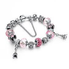 charms bracelet online images Pink friendship charm bracelet crystal beads ken bracelets shop jpg