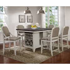 mystic cay kitchen island with 6 gathering chairs d00042