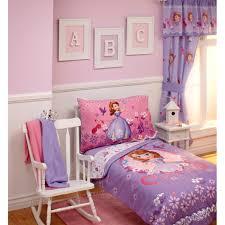 disney sofia tiara time 4 piece toddler bedding set walmart com