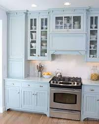 Victorian Kitchens Designs by The Crystal Cabinet Accessories In This Kitchen Classy Light Blue