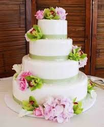 Wedding Cake Green Wedding Cakes Pictures Green And Pink Wedding Cakes