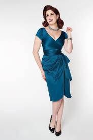 pinup clothing ava dress teal pinup clothing