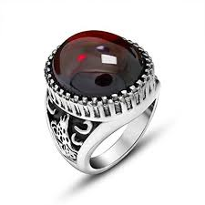 red silver rings images Red stone ring jpg