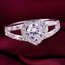 beautiful jewelry rings images Beautiful quot love is forever quot wedding crystal cz ring us sizes 7 8 jpg