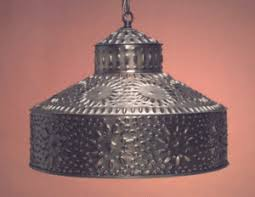 Tin Ceiling Lights Primitive Punched Tin Ceiling Lights Light Colonial Handmade