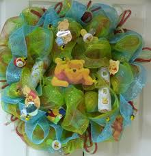 winnie the pooh baby wreath wreaths of many colors pinterest