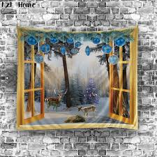Christmas Decor For Home Online Get Cheap Christmas Wall Tapestry Aliexpress Com Alibaba