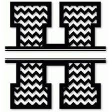 cutting files chevron letters set includes a through by