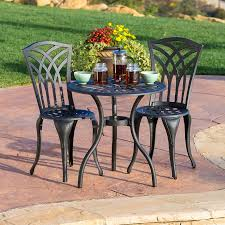 Black Sand 3 5 Furniture 5 Piece Metal Lowes Bistro Set With Large Round Table
