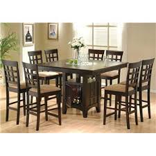 coaster table and chairs coaster mix match counter height dining table with storage