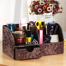 Desk Organizer Leather Pu Leather Desk Organizer Drawer Organizer Multifunction Remote