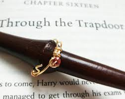 harry potter inspired engagement ring harry potter inspired wire wrap ring