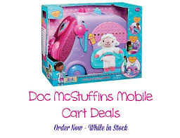 doc mcstuffins get better doc mcstuffins get better talking mobile cart from 44 99 one of