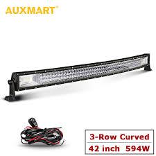 automotive led light bars auxmart 594w auto 42 led light bar 12v 24v triple row combo beam