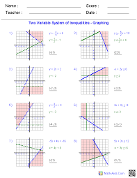 3 1 practice solving systems using tables and graphs algebra 1 worksheets systems of equations and inequalities worksheets