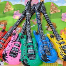 inflatable children kids blow up toy guitar fancy dress swimming